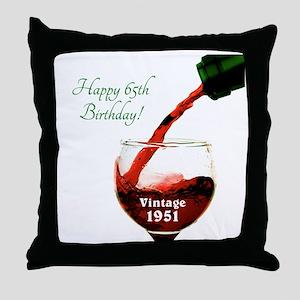 Vintage 1951 65 Throw Pillow