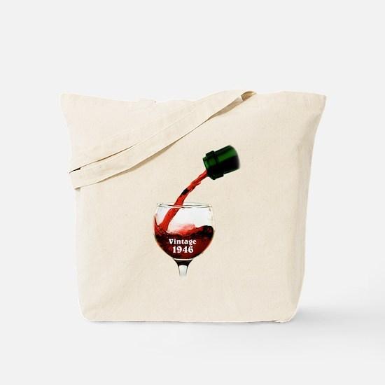 Vintage 1946 Wine 70th Tote Bag