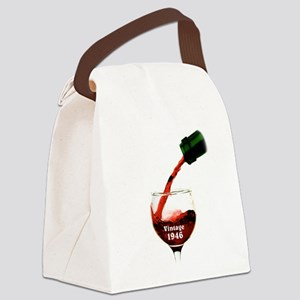 Vintage 1946 Wine 70th Canvas Lunch Bag