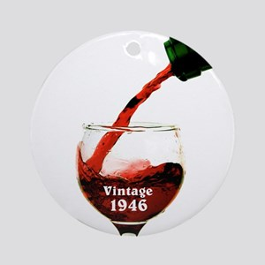 Vintage 1946 Wine 70th Round Ornament