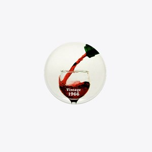 Vintage 1966 Wine 50th Mini Button