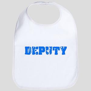Deputy Blue Bold Design Baby Bib