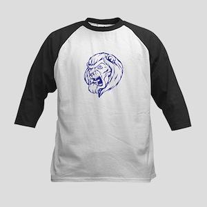 Lion Mascot (Blue) Kids Baseball Jersey