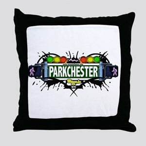 Parkchester (White) Throw Pillow