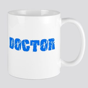 Doctor Blue Bold Design Mugs