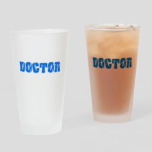 Doctor Blue Bold Design Drinking Glass