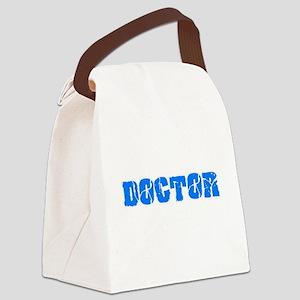 Doctor Blue Bold Design Canvas Lunch Bag