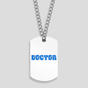 Doctor Blue Bold Design Dog Tags