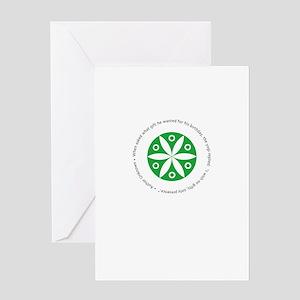 Yoga circular saying design Greeting Card