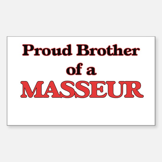 Proud Brother of a Masseur Decal