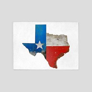 Rustic Texas Map 5'x7'Area Rug