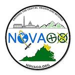 NoVAGO Logo white.png Round Car Magnet