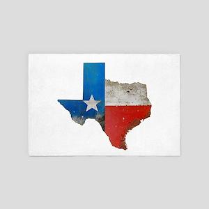Rustic Texas Map 4' x 6' Rug