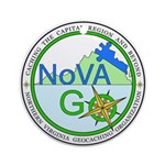 NoVAGO Logo white.png Round Ornament