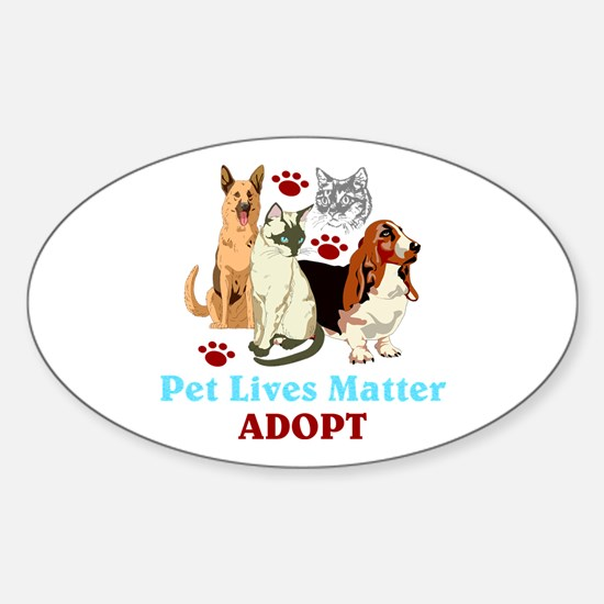 Pet Lives Matter Adopt Decal