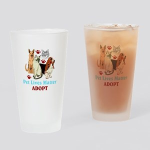 Pet Lives Matter Adopt Drinking Glass