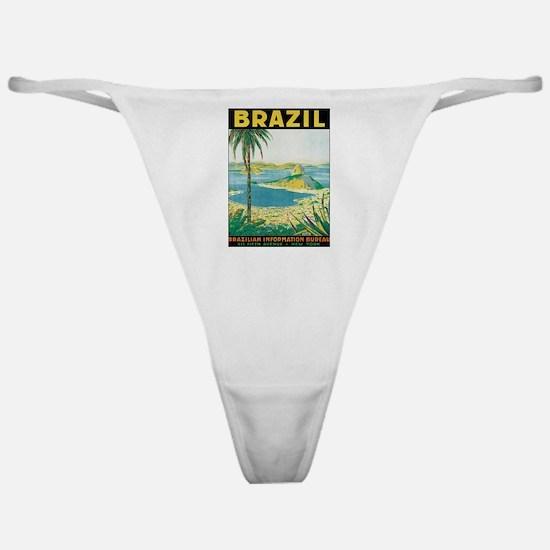 Brazil Retro Poster Classic Thong