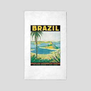 Brazil Retro Poster Area Rug
