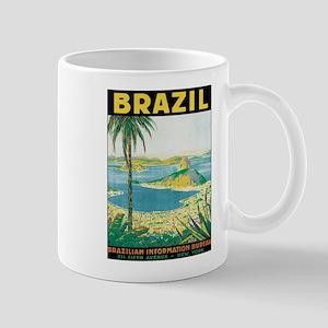 Brazil Retro Poster Mugs