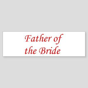 Father of the Bride Sticker (Bumper)