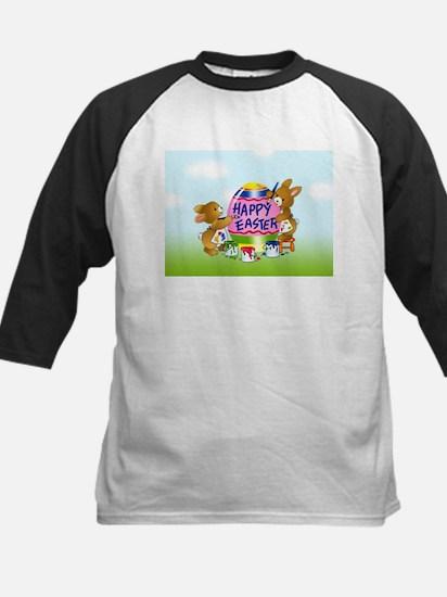 Bunnies Painting Easter Egg Baseball Jersey