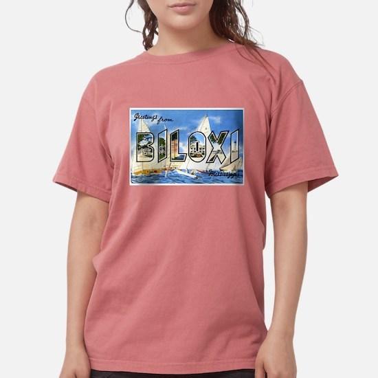 Biloxi Mississippi Greetings Women's Dark T-Shirt