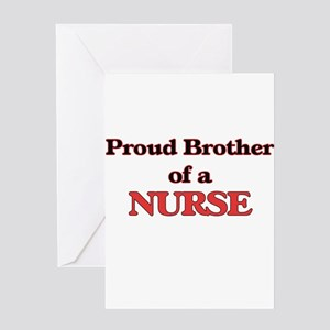 Proud Brother of a Nurse Greeting Cards