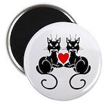Black Cat Love Magnet