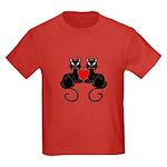 Black Cat Love Kids Dark T-Shirt