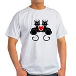 Black Cat Love Light T-Shirt