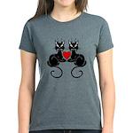 Black Cat Love Women's Dark T-Shirt
