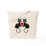Black Cat Love Tote Bag
