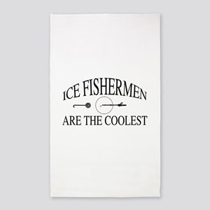 Ice fishermen are the coolest Area Rug