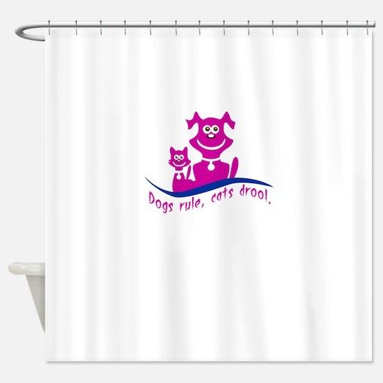 Unique Cats rule Shower Curtain