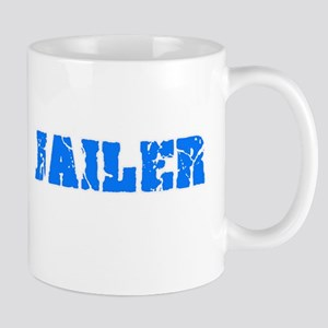Jailer Blue Bold Design Mugs