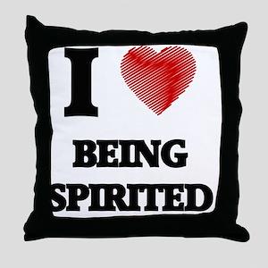 being spirited Throw Pillow