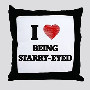 being starry-eyed Throw Pillow