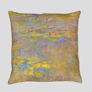 Water Lilies Yellow Nirvana Everyday Pillow