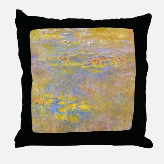 Water Lilies Yellow Nirvana Throw Pillow