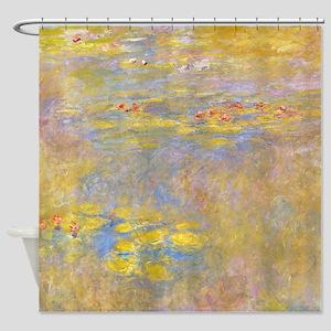 Water Lilies Yellow Nirvana Shower Curtain