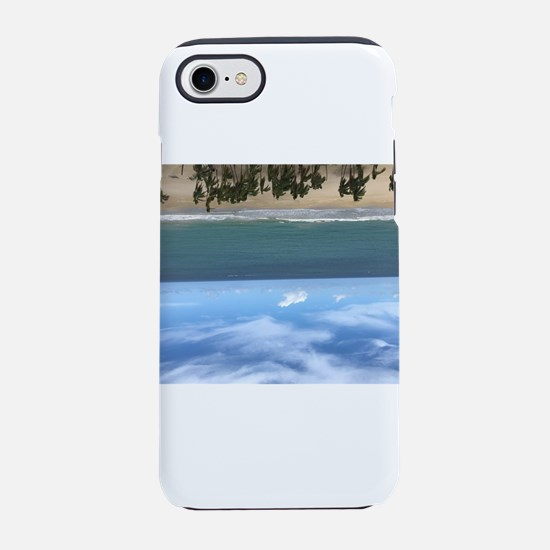 Beach resort upside down iPhone 8/7 Tough Case