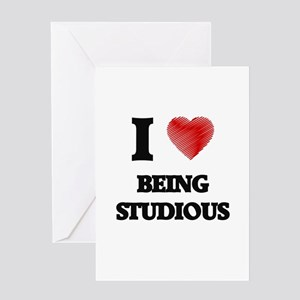 being studious Greeting Cards