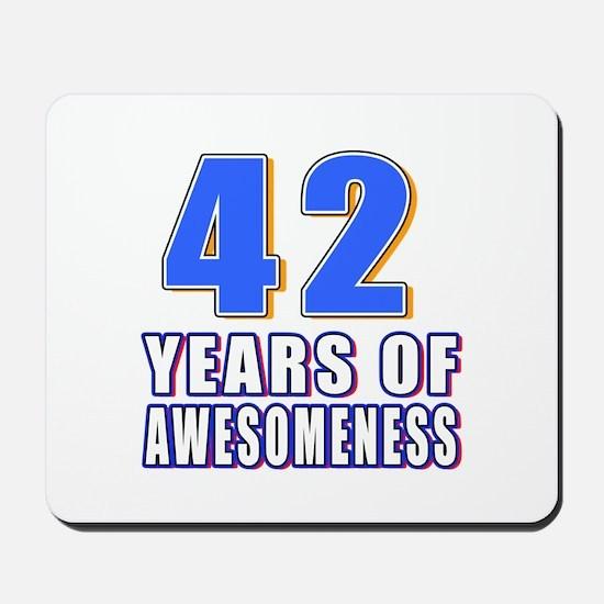 42 Years Of Awesomeness Mousepad