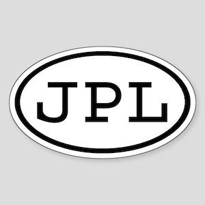 JPL Oval Oval Sticker