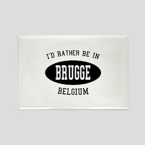 I'd Rather Be in Brugge, Belg Rectangle Magnet