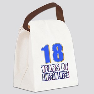18 Years Of Awesomeness Canvas Lunch Bag