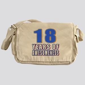 18 Years Of Awesomeness Messenger Bag