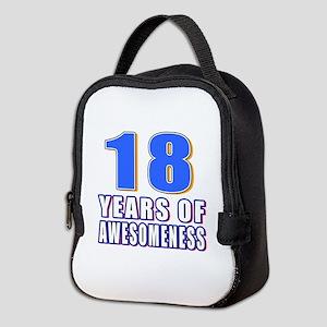 18 Years Of Awesomeness Neoprene Lunch Bag
