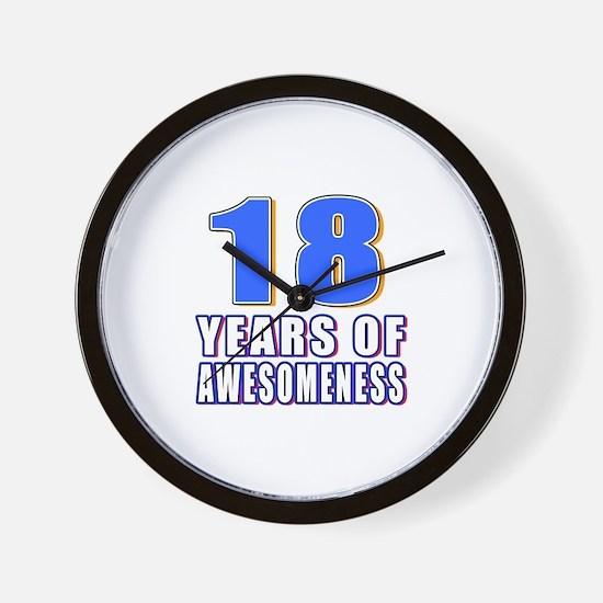 18 Years Of Awesomeness Wall Clock