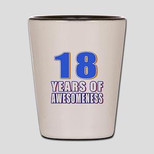 18 Years Of Awesomeness Shot Glass